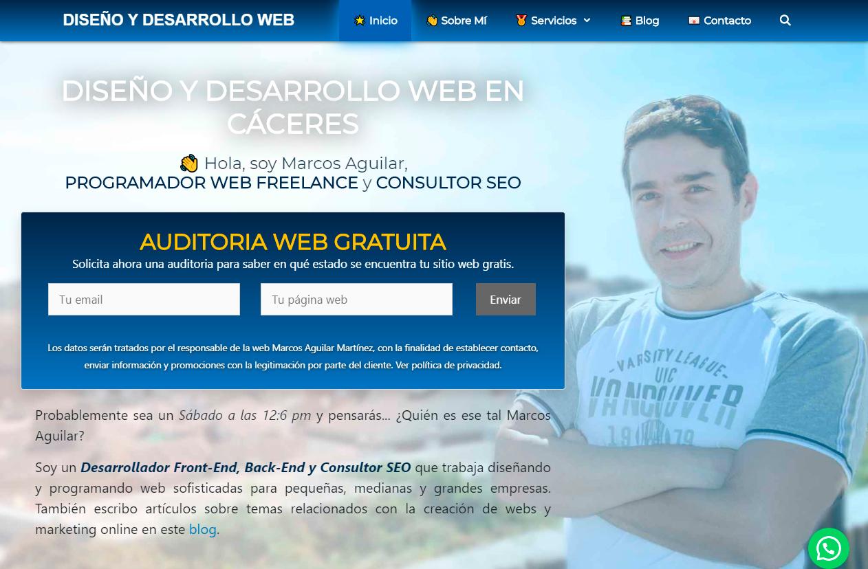 Diseño Página Web CÁCERES