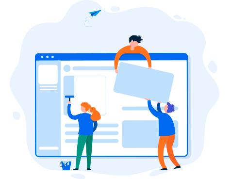 ilustración de diseño web caceres