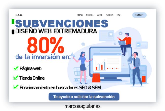 Subvenciones páginas Web Extremadura