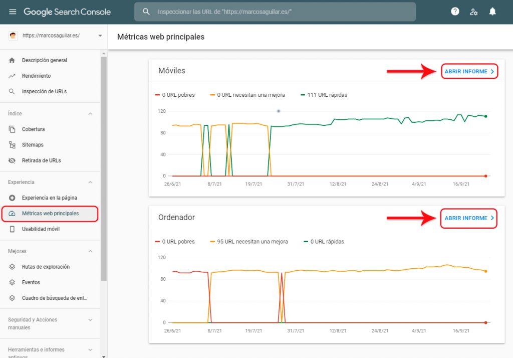 Cómo hacer un seguimiento de Core Web Vitals de Google